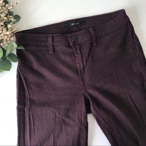 J Brand Super Skinny Dark Plum Jeans